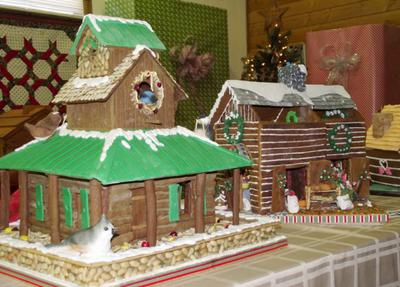 Gingerbread Log Cabin