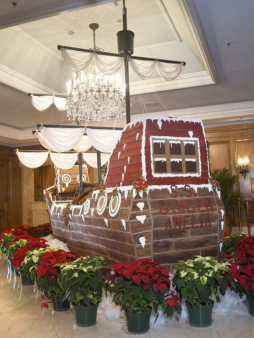 Gingerbread Pirate Ship at the Ritz in Amelia Island