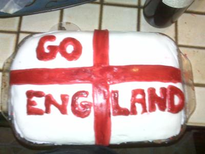 Go England! World Cup Cake with Fondant