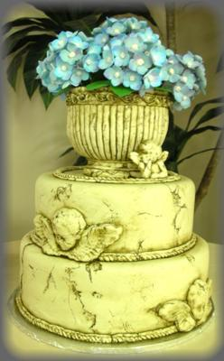 Fondant Hydrangeas and Stone
