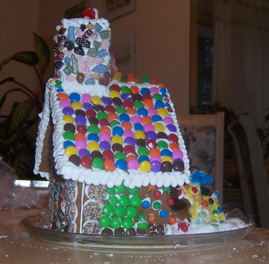 A family gingerbread house contest photo shared by one of our readers