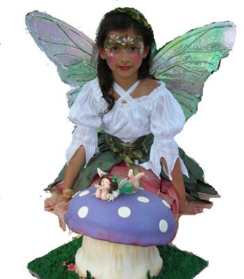 Fondant Mushroom and Fairy Cake