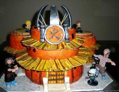 Ninja Temple Cake