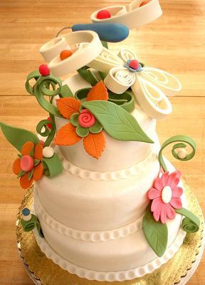 Ornate Gum Paste Cake