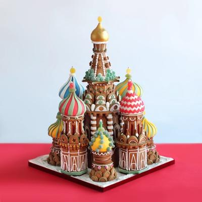 Russian Christmas in gingerbread