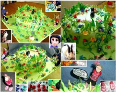 Over-Grown Garden Grass Cake
