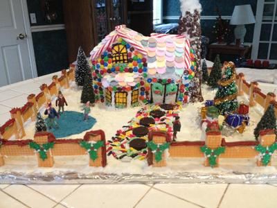 Tammy S Victorian Gingerbread House With Chimney