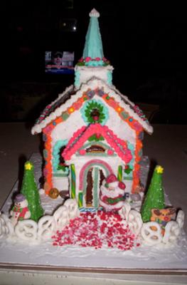 Christmas Gingerbread Church