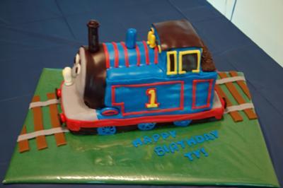 Thomas Cake with Fondant