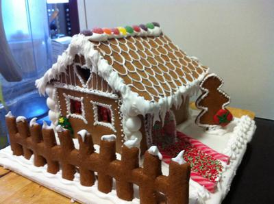 Traditional Czech Cottage Gingerbread House