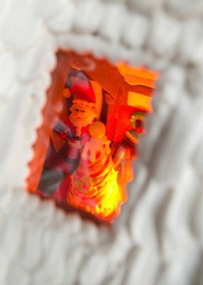 Peek inside for Santa