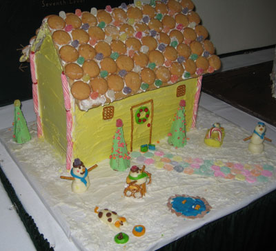 Cute Yellow Gingerbread House