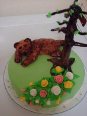 Springtime Bear Cake