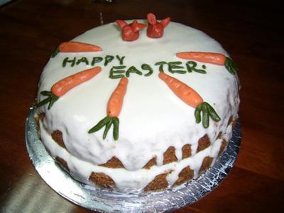 Marzipan Carrots as Carrot Cake Topper