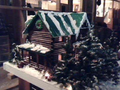 Gingerbread Log Cabin