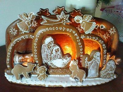 Gingerbread Manger Scene