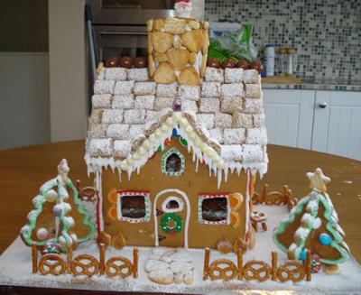 Gingerbread bungalow house