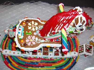 Top View of Gingerbread Horse