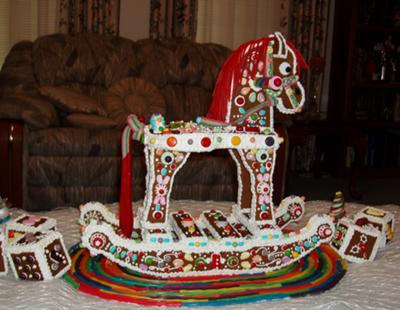 Side View of Rocking Horse