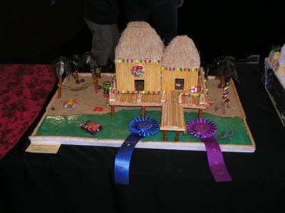 Gingerbread Tikki Hut
