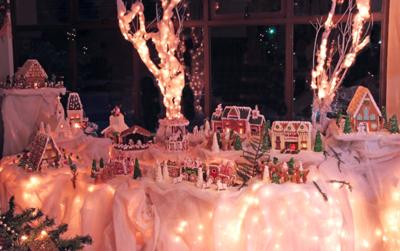 Gingerbread Town at Night