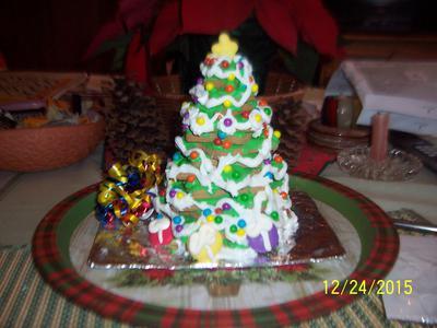 wilton gingerbread tree prebaked kit