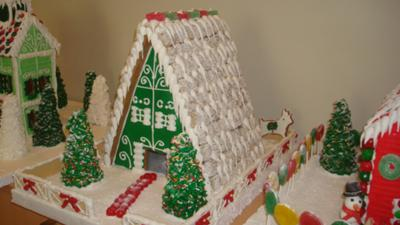 gingerbread swiss chalet