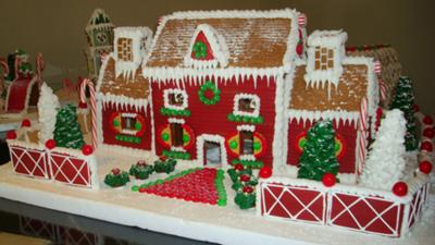 gingerbread brick house