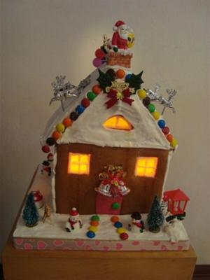 Lighted Gingerbread House From Malaysia