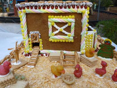 Gingerbread Chicken Coop