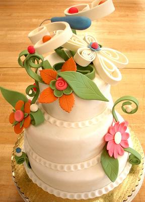 Ornate Gum Paste Cake