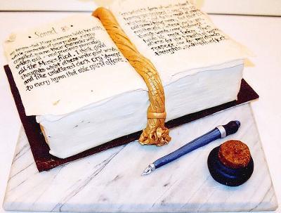 Shakespearean Sonnet Fondant Cake