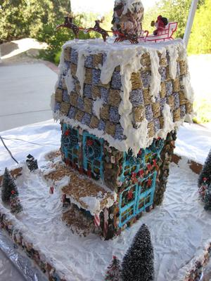 side, santa on roof