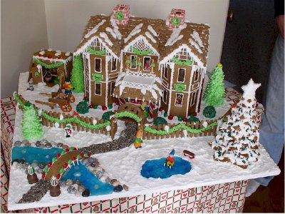 Template For The Gingerbread Of The House With The Lake