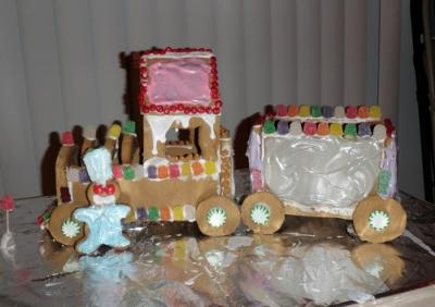 Gluten-Free Gingerbread Train
