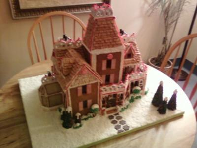 Victorian gingerbread house for Gingerbread house floor plans